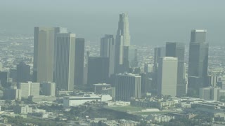 4K Wide Shot of Los Angeles City