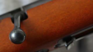 a bolt action rifle