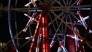 a carnival ferris wheel rack focus