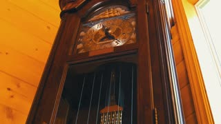 A cool old grandfather clock in living room