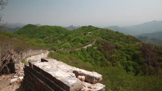 a cool unrestored guard tower of the great wall of china jiankou