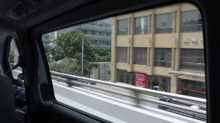 a driving shot in chengdu china