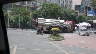 a driving shot of chengdu china