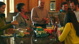 A family barbecue dinner party