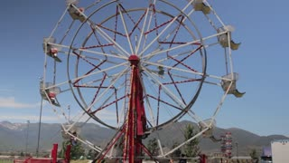a ferris wheel at the carnival