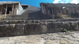 A Gimbal Shot Of Moving Through Ek Balam Mayn Ruins