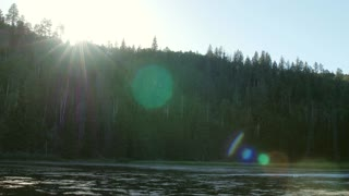 A gorgeous mountain lake and tons of flies, bugs and sun flares