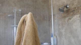 A hot steamy shower