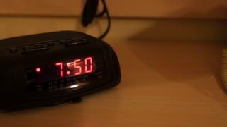 A hotel alarm clock