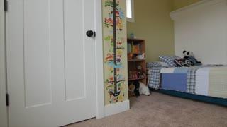 A jib shot inside boys bedroom