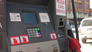 A man at gas station