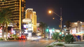 A timelapse of las vegas strip at night
