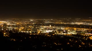 A timelapse of Salt Lake City and the Utah State Capitol
