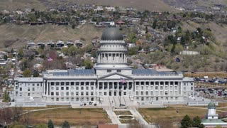 Aerial View of Utah State Capitol Building
