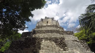 Amazing beautiful Mayan ruin at Coba near Cancun