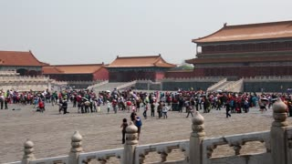 amazing forbidden city palace courtyard in beijing china
