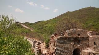 amazing great wall of china on mountain jiankou