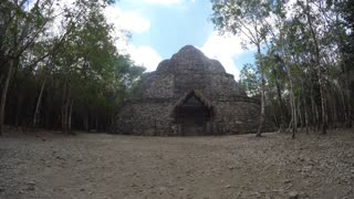 Amazing Mayan ruin in Coba near Tulum Mexico