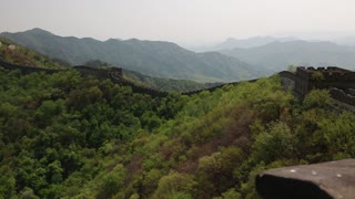 An incredible ancient section of the great wall of china Beijing mutianyu section