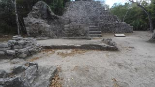 An old Mayan ruin in Coba near Tulum Mexico