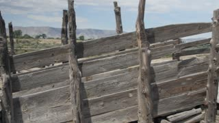 An old wooden corral in the desert of Southern Utah