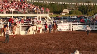 bareback riding in rodeo slow motion