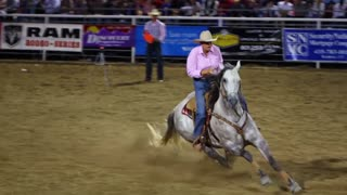 Barrel Falls Over in Barrel Racing Slow Motion