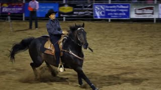 Barrel Racing at Rodeo Slow Motion