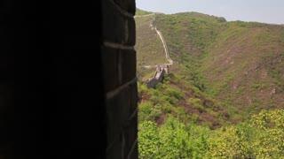 beautiful great wall of china beijing mutianyu with tourists