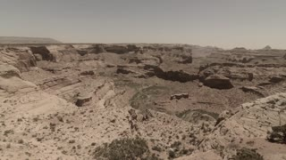 beautiful jib shot of grand canyon desert