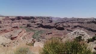 beautiful jib shot of grand canyon