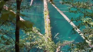 blue water in jiuzhaigou valley national park in china dolly