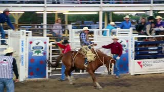 Bucking Horse at Rodeo at a rodeo
