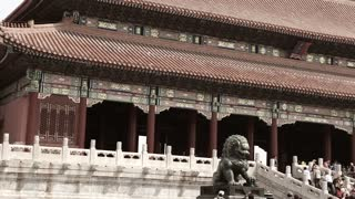 Buildings inside Ancient Forbidden City palace Beijing China 2