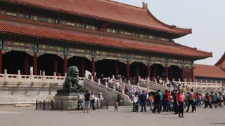 buildings inside forbidden city palace beijing china