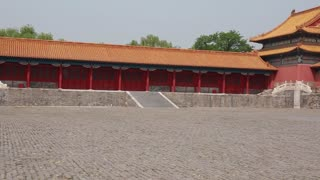 buildings inside forbidden city palace in beijing china