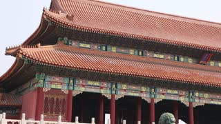 buildings inside the  ancient forbidden city palace beijing china