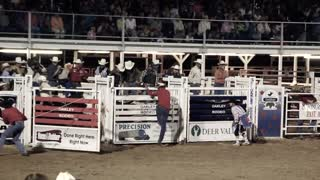 Bull riding at old time rodeo