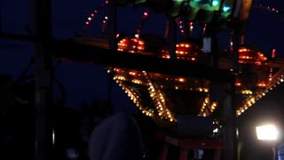 Carnival ride with flashing lights