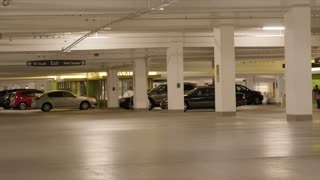 Cars in the parking garage