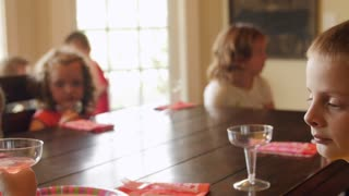 Children during a birthday party