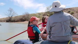 children river rafting on san juan river