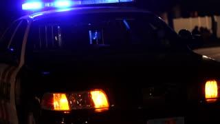 City Police Car at Night