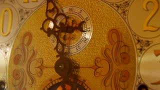 Cool old grandfather clock face in living room