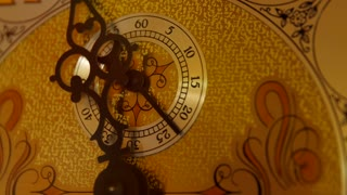 Cool old grandfather clock face in the living room