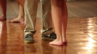 Couples dance at a wedding reception