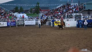 cowboy calf roping rodeo slow motion