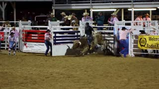 Cowboy Rides 8 Seconds on Bull