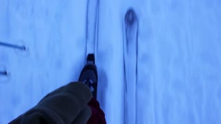 cross country skiing pov