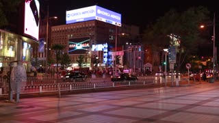 downtown beijing china in the night
